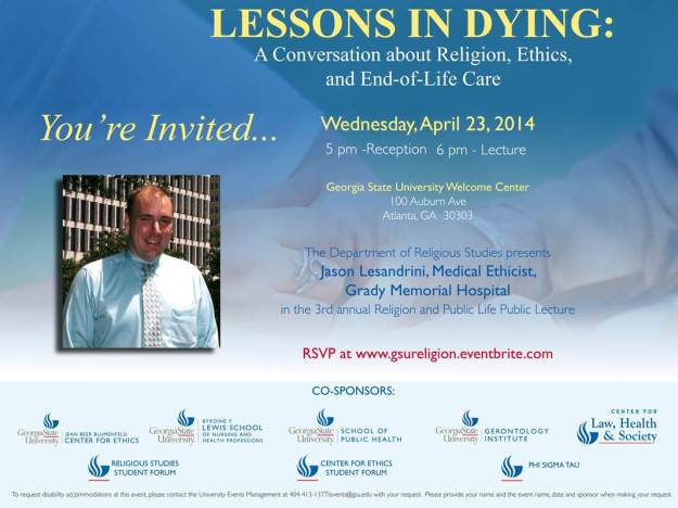 Lessons in Dying invitation